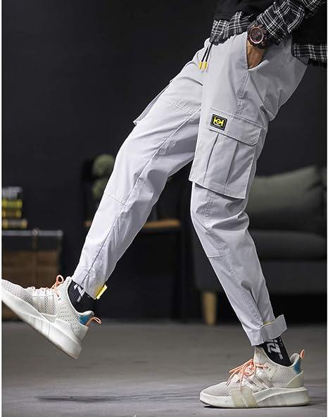 Llk Pantalones Casuales De Moda Para Hombre Pantalones De Trabajo Para Adolescentes De Configuracion Deportiva Amazon Es Jardin