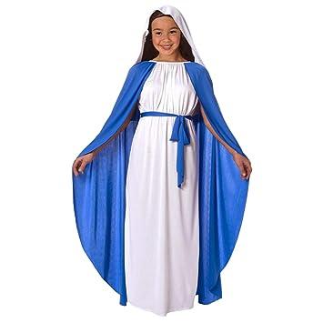 Traje de Natividad de Virgen María para niños Traje de niños de Navidad Religiosa - Grande - (9 - 11 años)