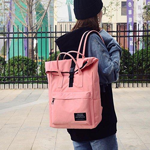 Pink School Pure Satchel Bag Bag Tote Backpack Shoulder Nlyon Fashion YJYDADA Pink Women Color Bag HqnB88OS