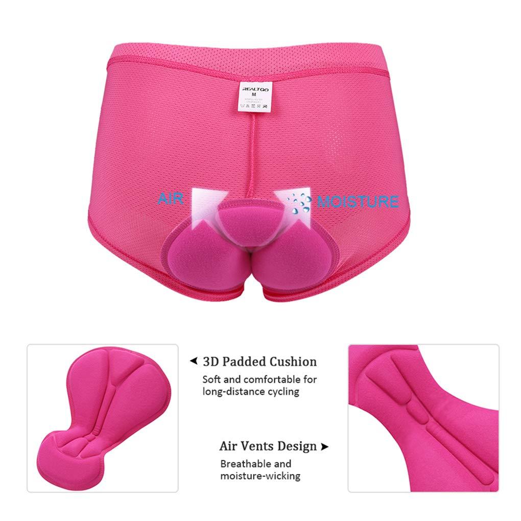 Womens Cycling Underwear 3D Padded Bike Bicycle Shorts Silicone Foam Gel Outdoor Breathable Bike Underwear
