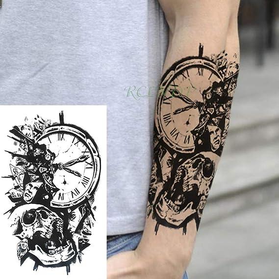 3 Piezas Etiqueta engomada del Tatuaje a Prueba de Agua Reloj ...