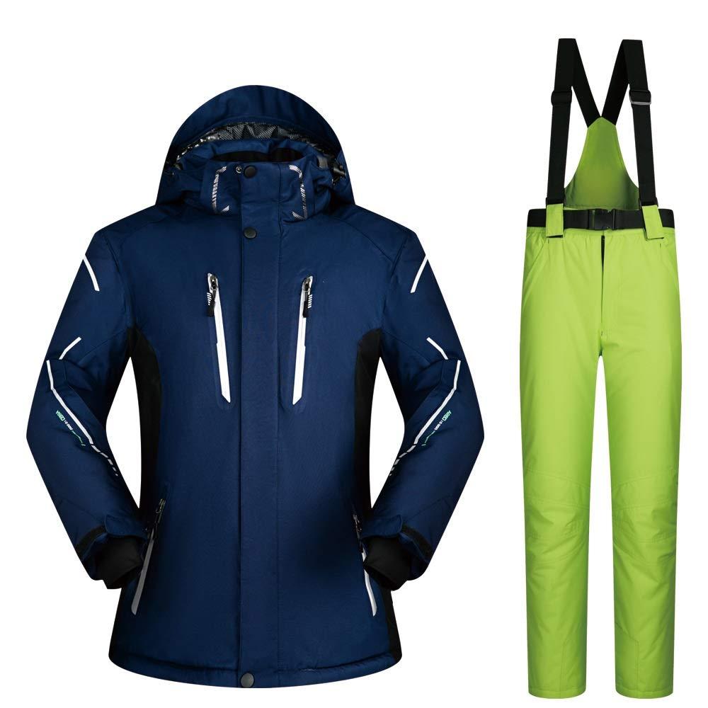 AUMING Skianzug Skijacke Hoch wasserdichter winddichter Snowboard-Herren-Ski-Mantel und -Hose (Farbe : C3, Größe : M)