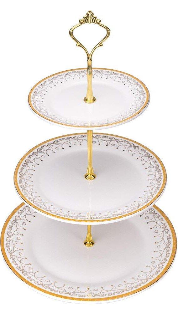 Mkono 3 Tier Cake Stand Cupcake Stands Dessert Plates COMINHKPR152266