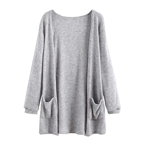 Hiroo Women Winter Autumn Long Sleeve Shawl Kimono Cardigan Open Front Tunic Slim Fit Outwear Solid ...