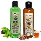 Khadi Natural Herbal Tea Tree Foming Face Wash + Khadi Natural Herbal SANDALWOOD & HONEY Face wash 200ml