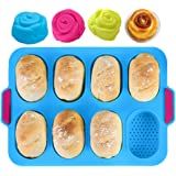 KeepingcooX Mini Baguette Baking Tray, 11x9.5 in, Non-stick Perforated Pan - Bread Crisping Tray, Loaf Baking Mould, French B