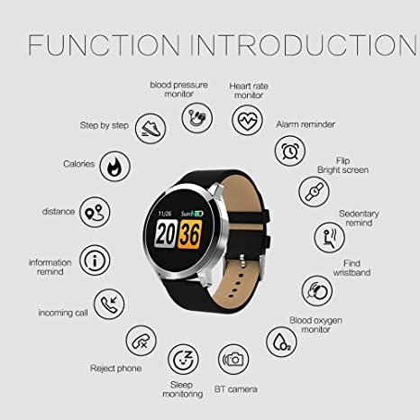 Amazon.com: Smart Waterproof Sports Watch Watch Heart Rate Blood Oxygen Monitor OLED Screen Bluetooth Pedometer Male Female (Color : Gold): Cell Phones & ...