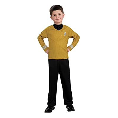 Star Trek Movie Child's Gold Shirt Costume with Dickie and Pants, Large: Toys & Games