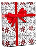 30'' X 15' Scrolling Flakes Gift Wrap Christmas