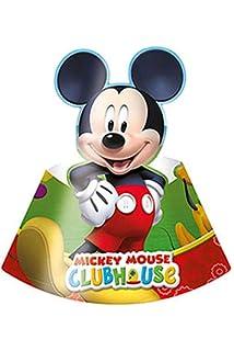 amscan Pack 6 Gorros Mickey Mouse, cartón