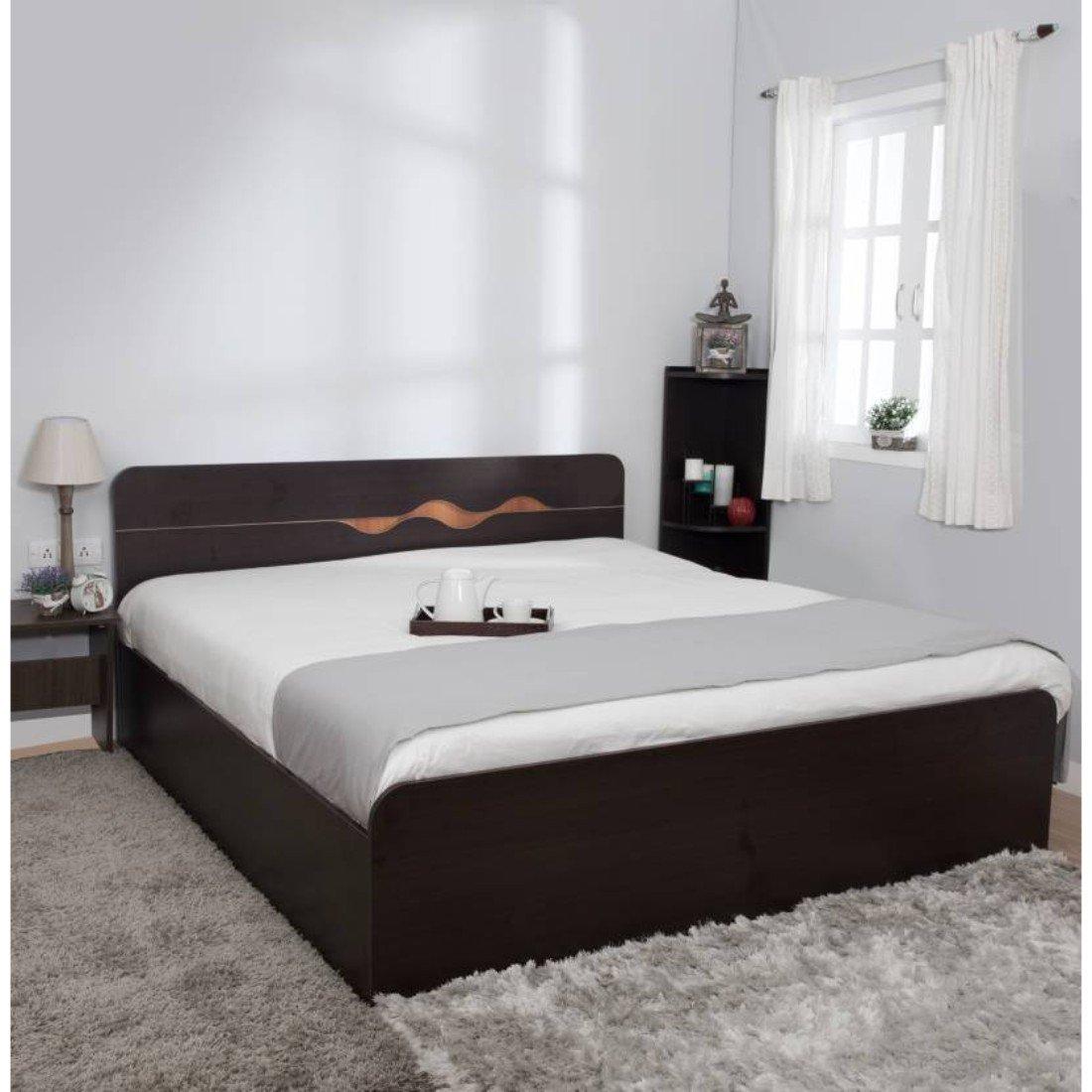 Hometown Swirl King Bed With Box Storage WENGE