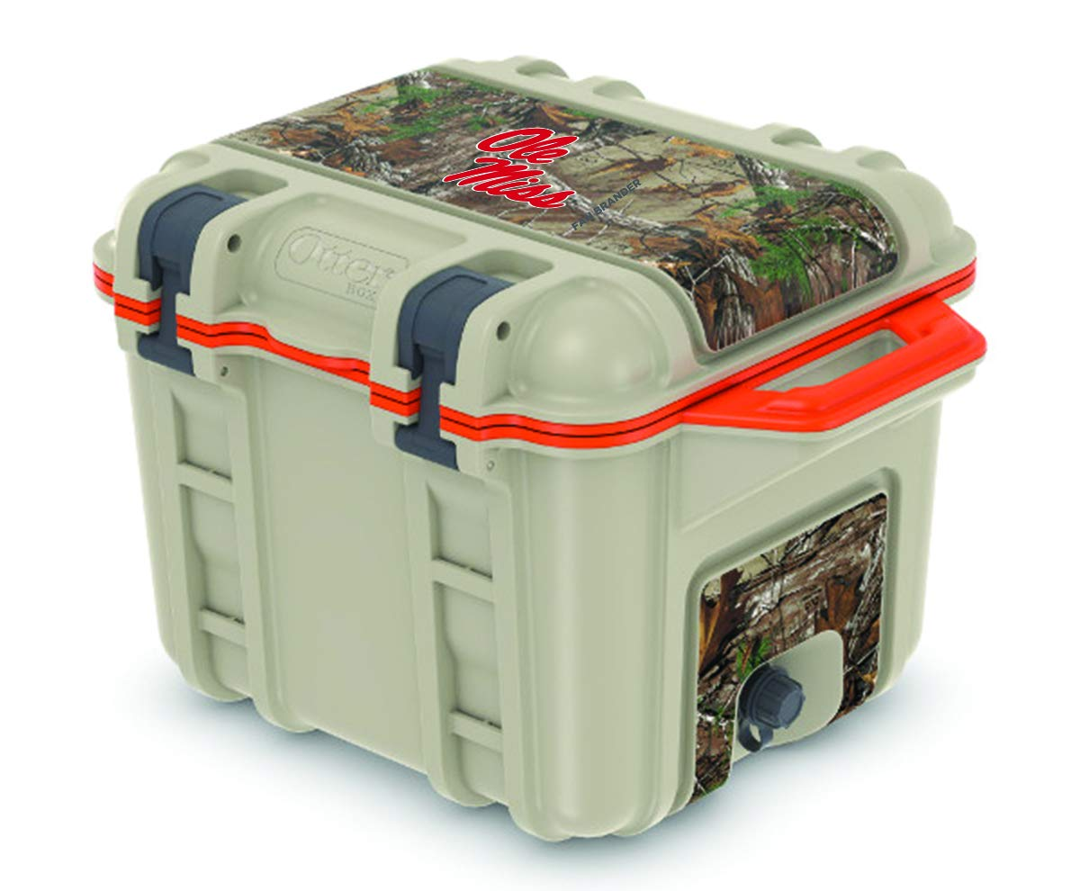 Fan Brander NCAA OtterBox 25 qt Hard Cooler with Realtree Camo(Mississippi Ole Miss)