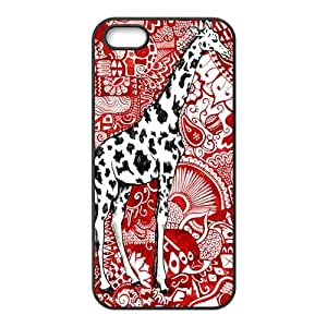 Cute Giraffe Protective Durable Hard Back Cover Case for iPhone 5 5s (TPU)