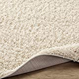 Sweet Home Stores Cozy Shag Collection Cream Solid