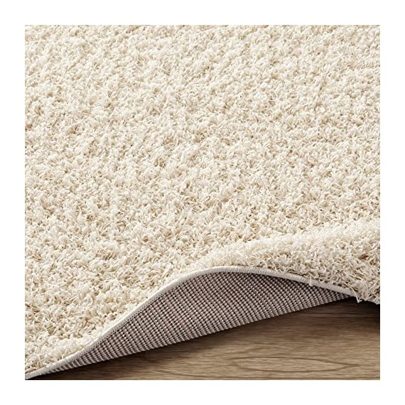 """Sweet Home Stores Cozy Shag Collection Cream Solid Shag Rug (2'7""""X7'6"""") Contemporary Living and Bedroom Soft Shaggy Runner Rug - Size: 2'7""""X7'6"""" Color: Cream 100% Heat-set polypropylene machine woven for long-lasting quality - runner-rugs, entryway-furniture-decor, entryway-laundry-room - 61YyV5U7SYL. SS570  -"""