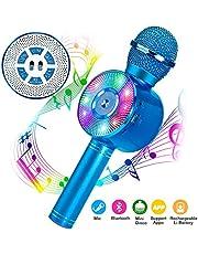 Micrófono Karaoke Bluetooth, FishOaky Microfono Inalámbrico Altavoces, Portátil Karaoke para Ni?os Cantar, Función de Eco, Compatible con Android/iOS o Teléfono Inteligente