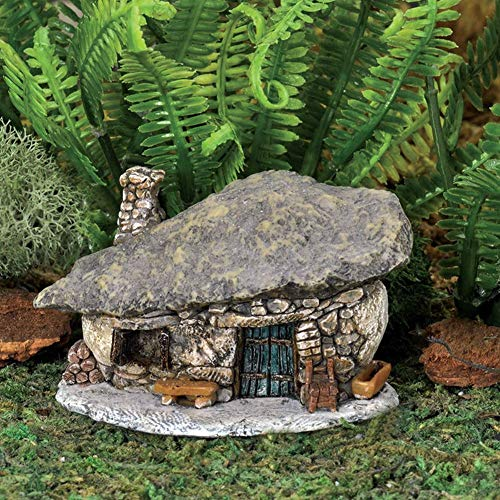 Miniature Micro Rock Top Troll House GO 17446 Fairy Garden Terrarium