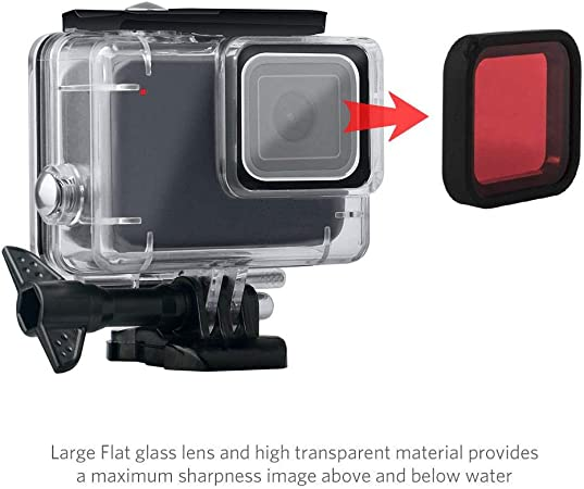 leegoal Carcasa Impermeable para GoPro Hero 7 Blanco/Plata, 148Ft ...