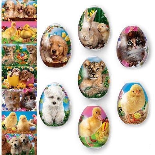 Pysanky Eggs - Egg Wraps - Easter Eggs - Heat Shrink Sleeve - Pets Animals