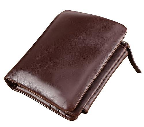 2056457c67 SAIERLONG Uomo Portamonete Portafogli portafoglio borsellino Caffè Pelle Di  Mucca: Amazon.it: Scarpe e borse