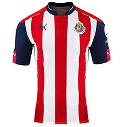 1a05721f4 Amazon.com   Puma Chivas 2016 2017 Home Jersey   Sports   Outdoors