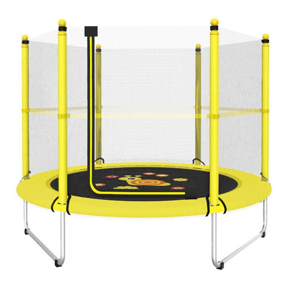 Trampolin, Indoor-Kinder-Trampolin mit Reißverschluss-Netz 150 cm - Max Load 150KG (Gelb) - Einfach zusammenbauen