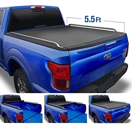 Oedro Tri Fold Truck Bed Tonneau Cover Fit For 09 14 Ford F 150