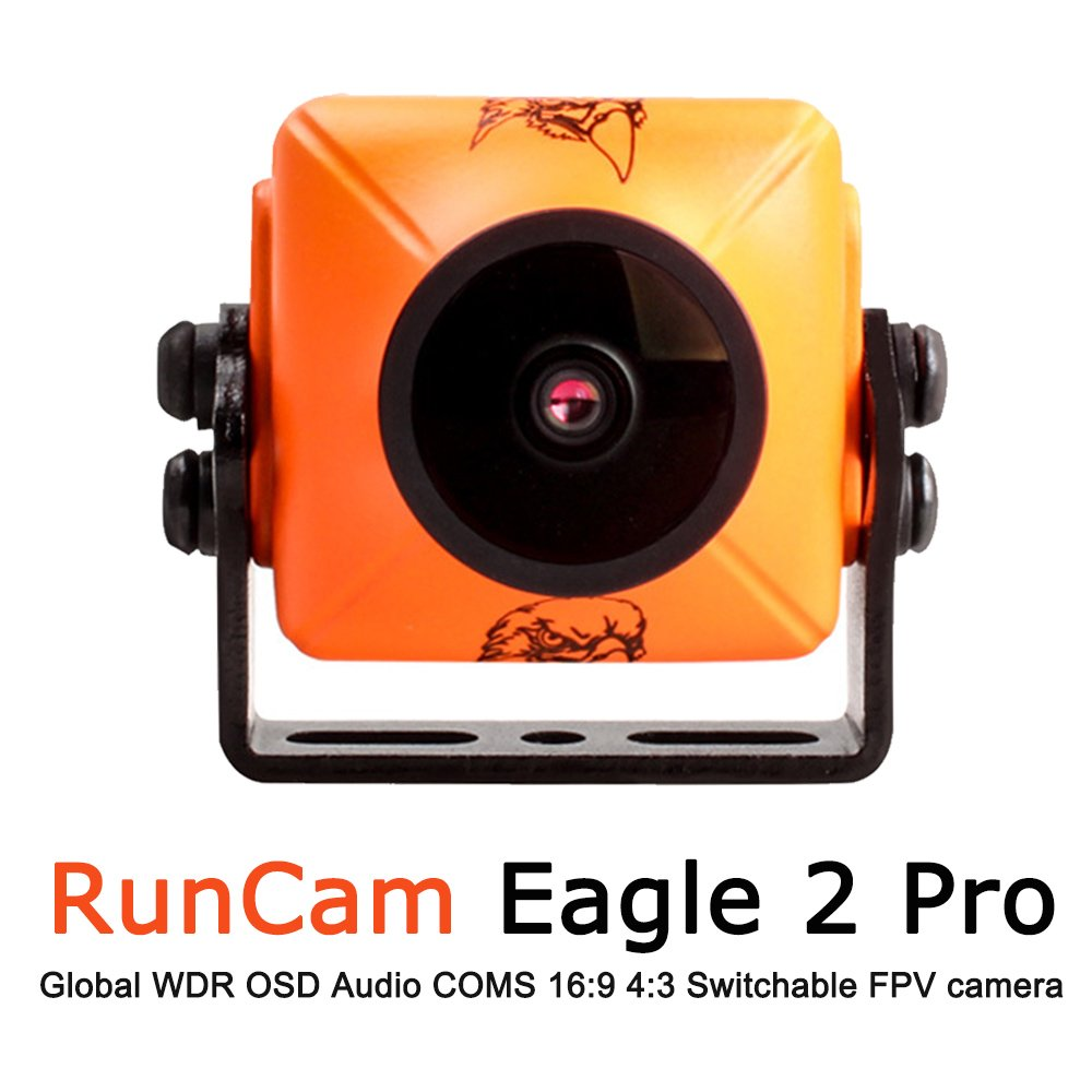 RunCam Eagle 2 Pro 800TVL CMOS 2.1mm/2.5mm Lens 16:9/4:3 NTSC/PAL Switchable Super WDR MIC OSD FPV Camera Low Latency Drone Quadcopter Multicopter aokfly AU-Ru-eagle2 pro