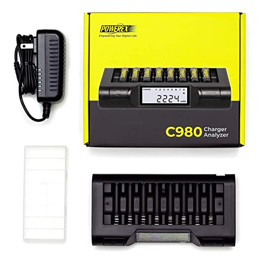 Amazon.com: Powerex MH-C980 Turbo - Cargador para pilas AA ...