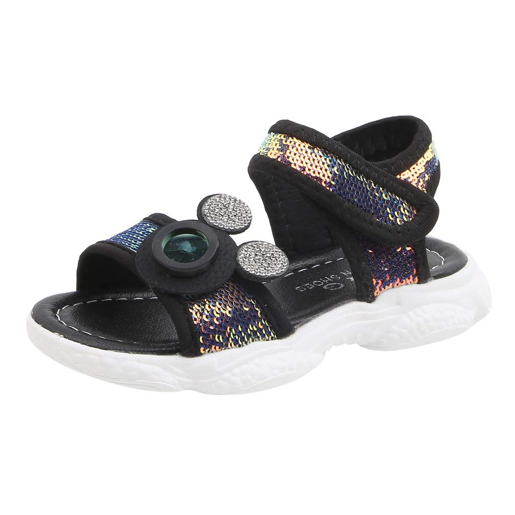 Fashion Toddler Infant Kids Baby Boys Girls Sequins Bling Sports Shoes Sneakers Sandals Voberry