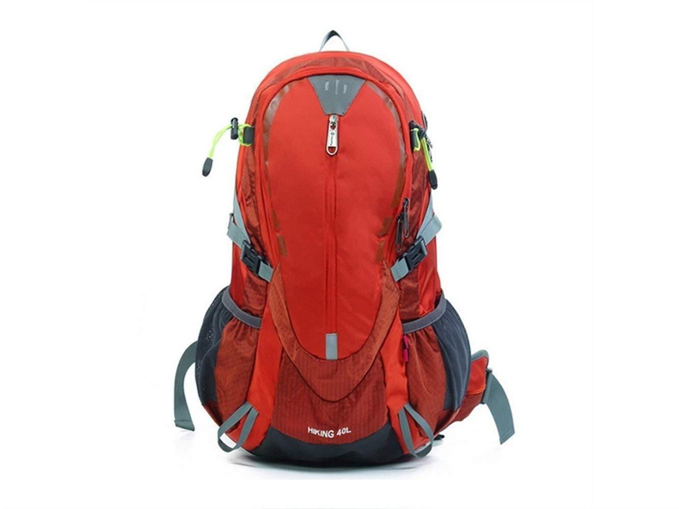 Kinue メンズ クールバックパック アウトドア インドア スポーツ アウトドア ナイロン 破れにくい 防水 登山バッグ ハイキング キャンプ バックパック (レッド) B07L97ZSBR