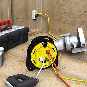 Retractable Extension Cord Reel >> Amazon.com: Royal Electric 20-Foot Retractable Extension ...