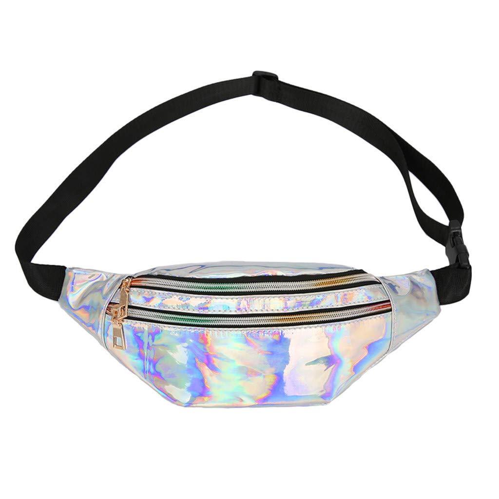 Fashion Women Students Outdoor Sports Zipper Messenger Bag Chest Bag Waist BagHandbags&Clutches&Evening Bags