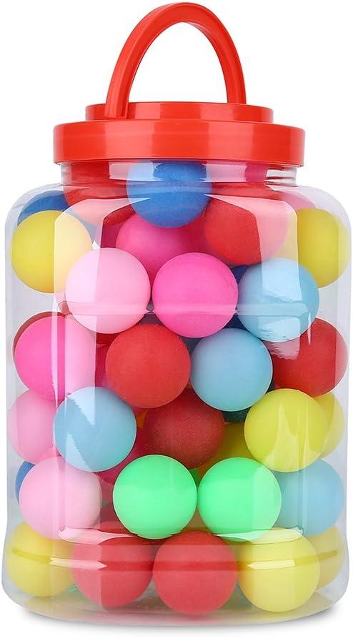 60pcs Bolas Divertidas Pelotas de Ping Pong Pelotas de Tenis de Mesa 40mm Bolas de Lotería Ping Pong Cerveza Bolas - Ejercite la visión de su hijo y las habilidades de reconocimiento de color