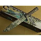 FARDEER Knife Cuchillo de Caza, Cuchillo Supervivencia Big Blade para Camping y Senderismo