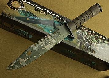FARDEER Knife Cuchillo de Caza, Cuchillo Supervivencia Big ...