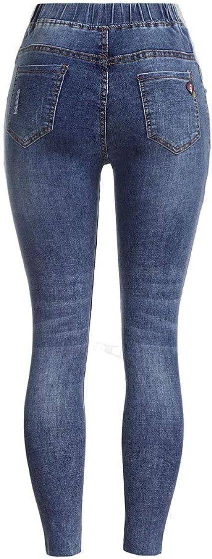 RISTHY Premamá Vaqueros Leggings Denim Pantalones Cinturón para ...