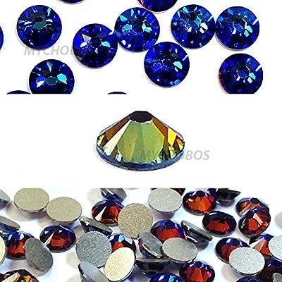 Amazon.com  144 pcs Crystal Meridian Blue (001 MBL) Swarovski 2058 Xilion    NEW 2088 Xirius 20ss Flat backs Rhinestones 5mm ss20  Arts 429bf7b93193