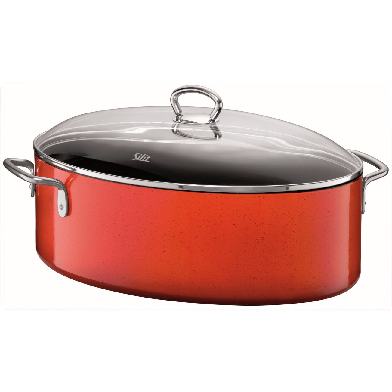 Silit  Passion  8-1/4-Quart Oval Roasting Pan with Lid, Energy Red by Silit (Image #1)