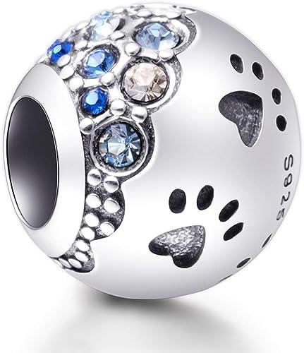 Voroco Blue Eye S925 Sterling Silver Women Bracelet Bangle With CZ Charm Jewelry