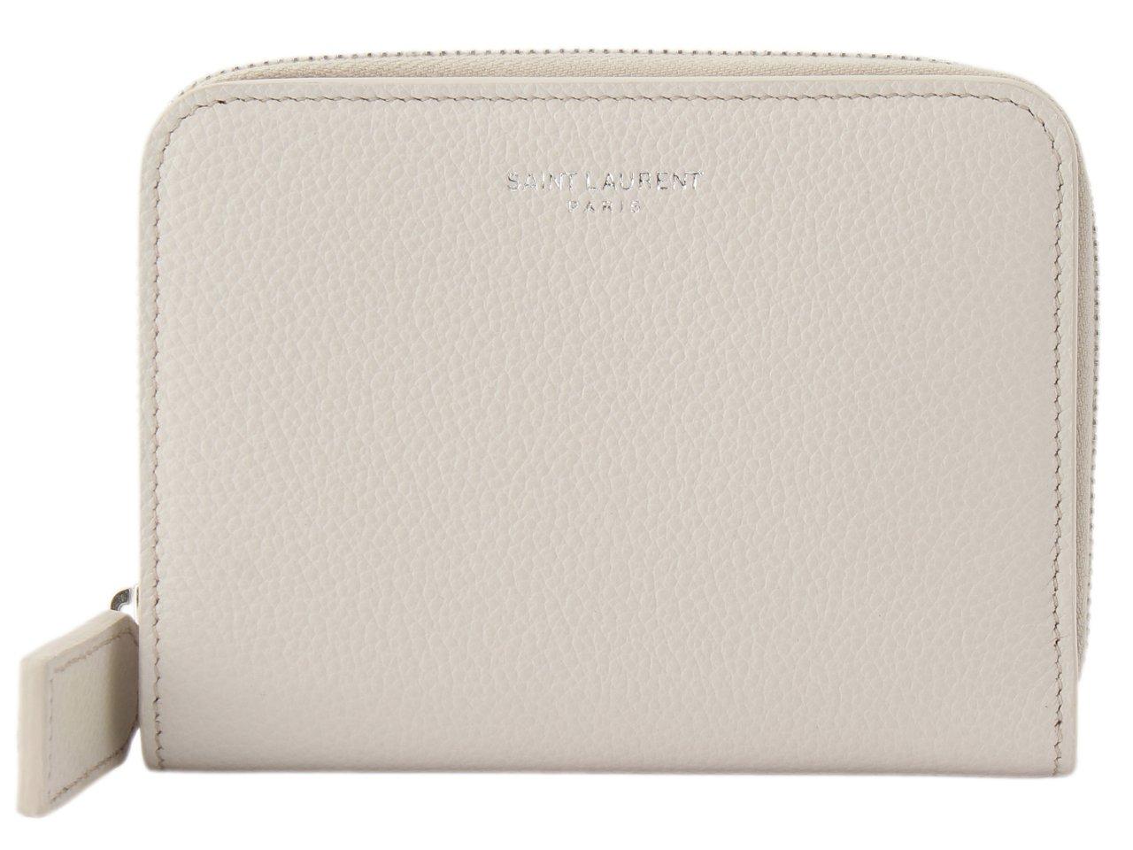 (サンローラン) SAINT LAURENT 財布 二つ折り ラウンドファスナー レザー 414661 [並行輸入品] B075S1TTT2 ICY WHITE ICY WHITE