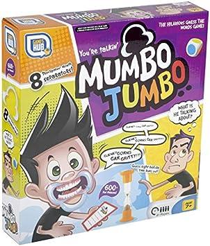 Juego de mesa Mumbo Jumbo, con separadores para la boca, desafíos verbales, edición familiar Party de 2017 (idioma español no garantizado): Amazon.es: Juguetes y juegos