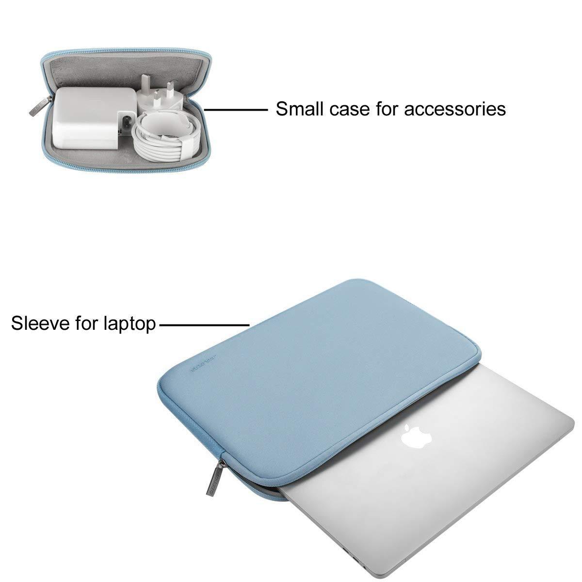 Verde MOSISO Funda Protectora Compatible 13-13.3 Pulgadas MacBook Air//MacBook Pro//Pro Retina//Surface Laptop 2 2018 2017//Surface Book 2//1 Repelente de Agua Neopreno con Peque/ño Caso
