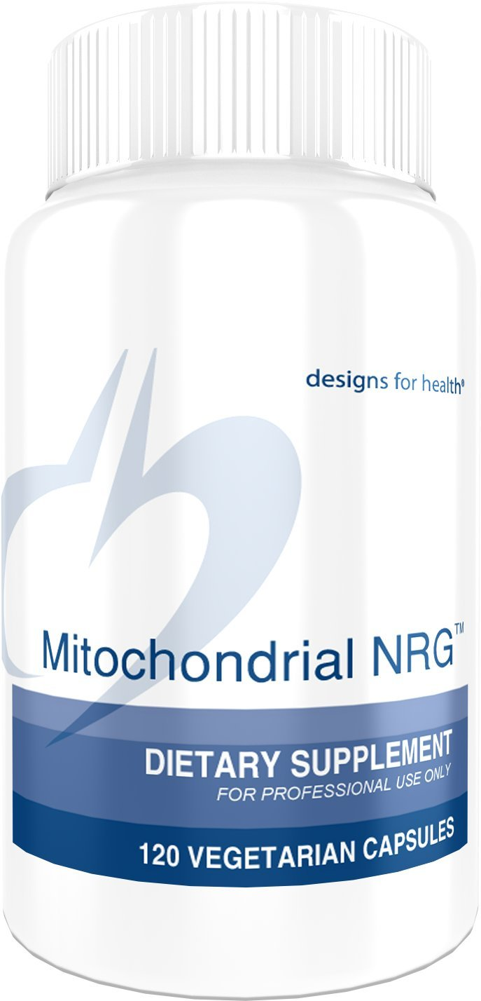 Designs for Health Mitochondrial NRG - Energy + Performance Support Formula with Creatine, CoQ10 + Curcumin (120 Capsules)