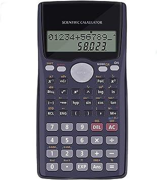 Calculadora de funci/ón para estudiante y profesor con tabla de f/órmula newrong Scientific color negro