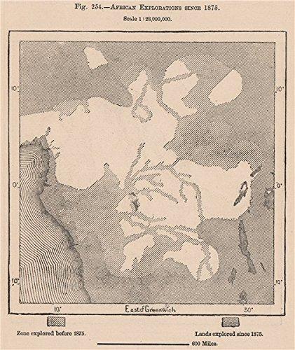 Congo Basin On Map Of Africa.Amazon Com African Explorations Since 1875 Congo Basin 1885