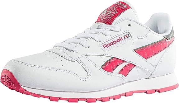 Reebok Cl Leather Reflect, Zapatillas de Running para Niñas ...
