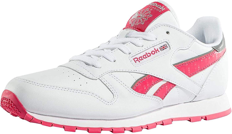 Reebok Cl Leather Reflect, Zapatillas de Running Niñas: Reebok: Amazon.es: Zapatos y complementos