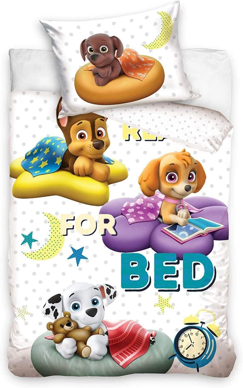 Paw Patrol Baby Bettw/äsche-Set 100x135 40x60cm Baby Baumwolle