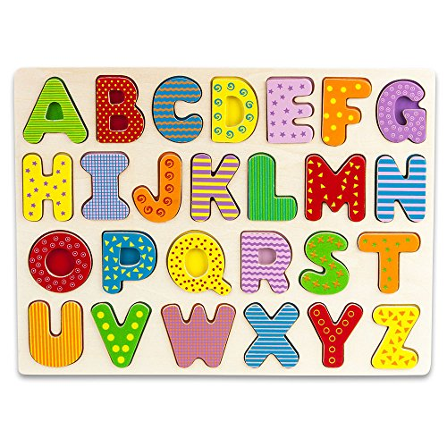 (Professor Poplar's Wooden Alphabet Puzzle Board by Imagination Generation )